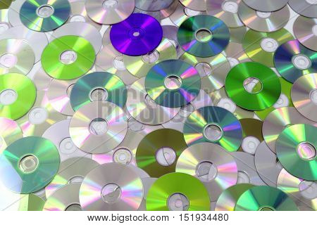 Cd And Dvd As Background
