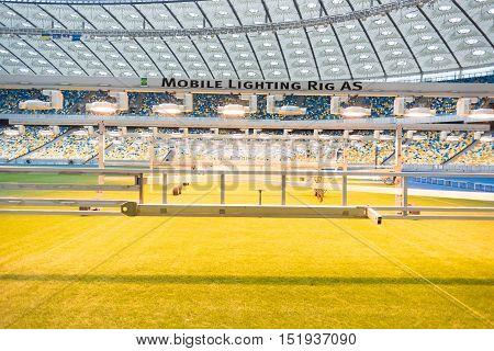 Kyiv, Ukraine - October 15, 2016. Olimpic Stadium - Nsc Olimpiyskiy.