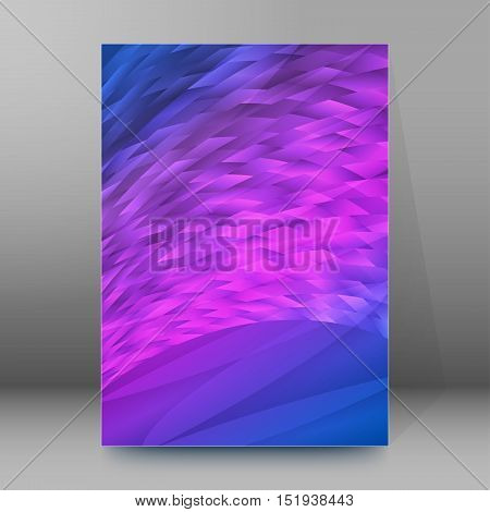 Background Report Brochure Cover Pages A4 Style Abstract Glow59