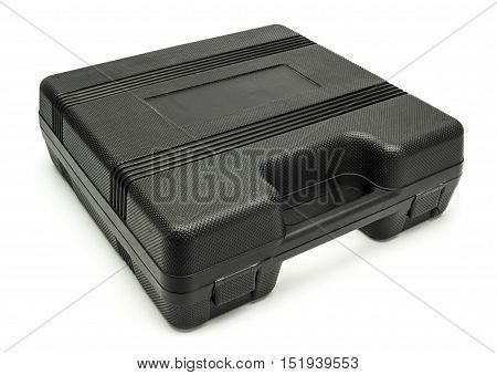Plastic case for household tools on a white background isolated