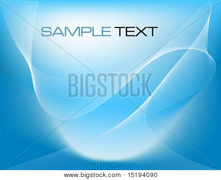blue abstract business concept - vector illustration