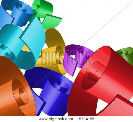 3d abstract ribbon twirl - full editable vector illustration