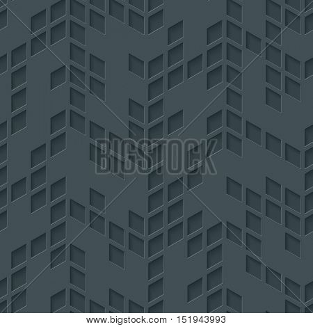 Abstract hi-tech geometric seamless pattern. Neutral tileable background of rhombus mosaic, Vector EPS10.