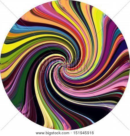 Grunge striped and blurred rainbow vortex background