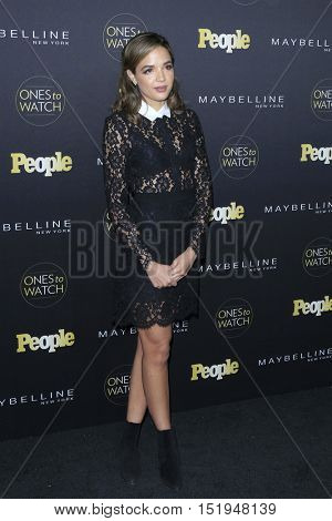 LOS ANGELES - OCT 13:  Georgie Flores at the People's One to Watch Party at the E.P. & L.P on October 13, 2016 in Los Angeles, CA
