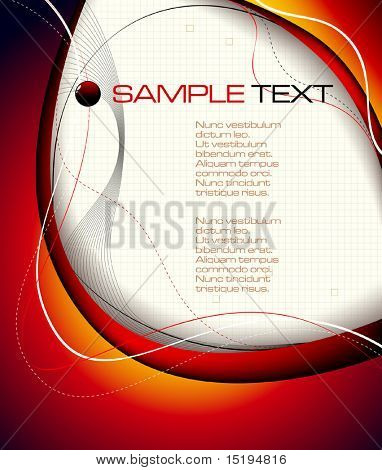 red abstract background - vector illustration - jpeg version in my portfolio