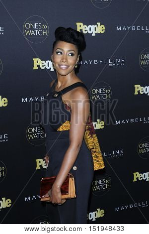 LOS ANGELES - OCT 13:  Simone Missick at the People's One to Watch Party at the E.P. & L.P on October 13, 2016 in Los Angeles, CA