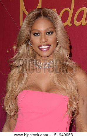 LOS ANGELES - OCT 13:  Laverne Cox at the Laverne Cox Unveils her Restyled