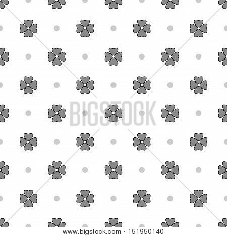 Flowers geometric seamless pattern. Fashion graphic background design. Modern stylish abstract texture. Monochrome template for prints textiles wrapping wallpaper website Stock VECTOR illustration