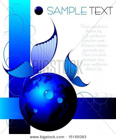 blue abstract background - vector illustration - jpeg version in my portfolio