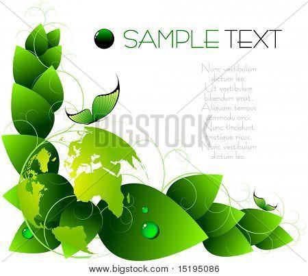 versión de jpeg de antecedentes - vector illustration - verde de la primavera en mi cartera