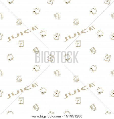 Seamless vector pattern of juicers on the background with the words. The pattern of juicers