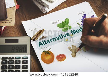 Alternative Medicine Healthcare Herbal Natural Concept