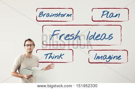 Fresh Ideas Be Creative Inspire Concept