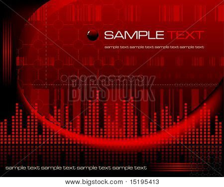 red tech abstract background - vector illustration - jpeg version in my portfolio