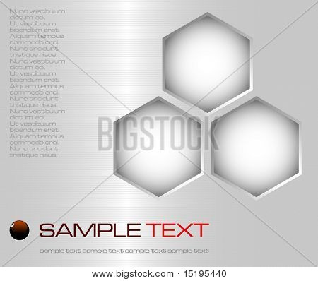 abstract brushed metal surface background - vector illustration - jpeg version in my portfolio