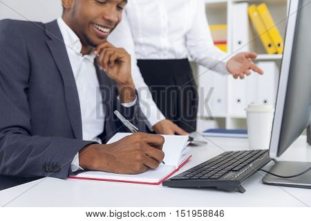 Content Office Employee From Africa