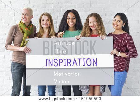 Attitude Possible Creative Inspire Simplify Words Concept
