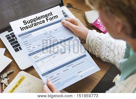 Supplement Insurance Form Concept