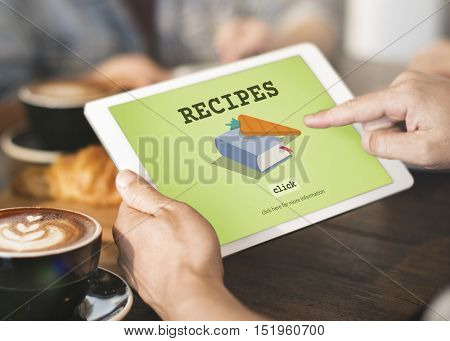 Recipes Cook Book Ingredients List Concept