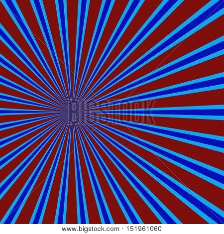 Sun rays background. Blue and red Abstract background, vector illustration