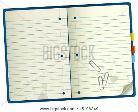 Realistic notebook - vector illustration