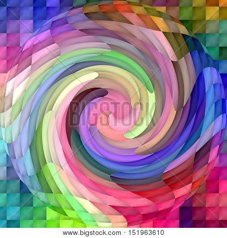 Abstract coloring background of the color harmonies gradient with visual lighting,spherize and twirl effects