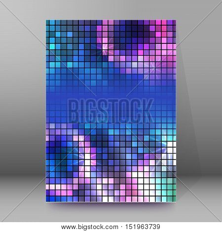 Background Report Brochure Cover Pages A4 Style Abstract Glow83
