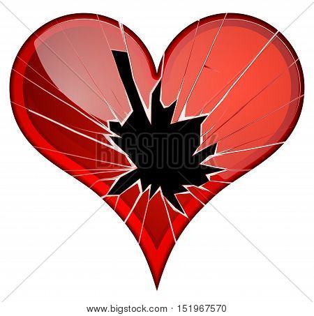 Broken hearts. Dislike, sadness, shattered, rupture break up themes Vector hearts