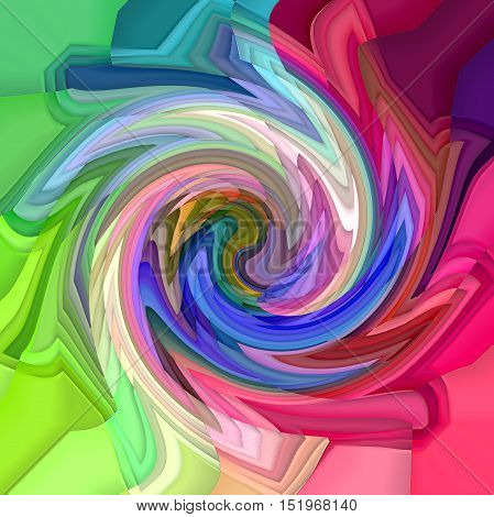 Abstract coloring background of the color harmonies gradient with visual mosaic,wave,poolar coordinates and twirl effects