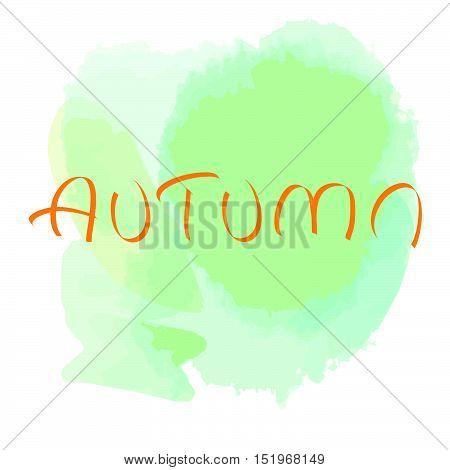 Aquarelle background on on isolated background. Autumn