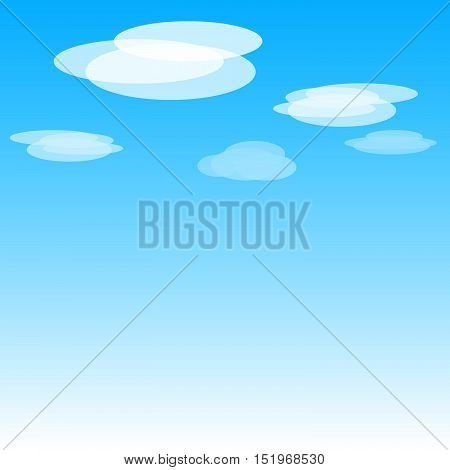 Beautiful blue sky background with clouds. Vector art. EPS 10