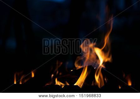 The element of fire. The concept texture and background