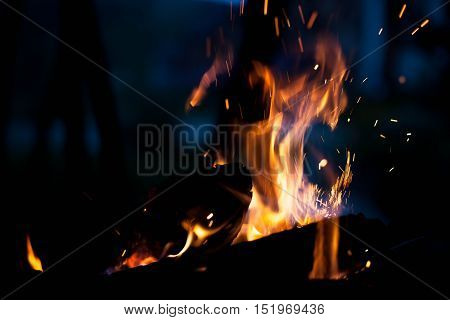 bright fire. The concept texture and background