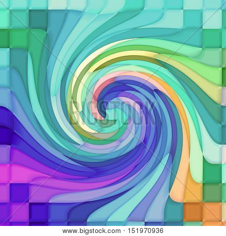 Abstract coloring background of the pastels gradient with visual mosaic,pinch and twirl effects