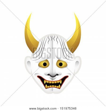 Japanese demon mask type 4 with gradients