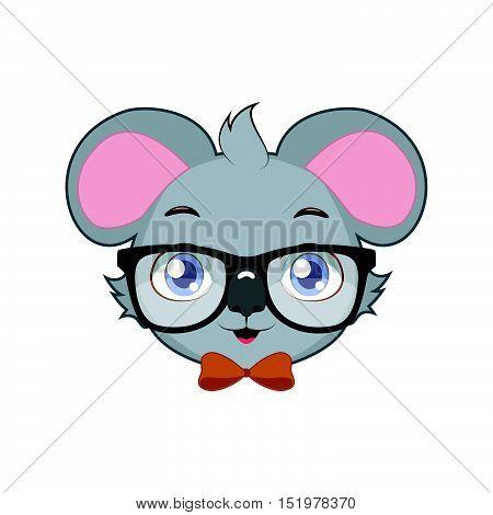 Illustration art of a stylish hipster koala