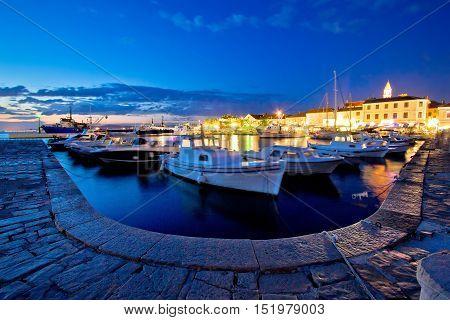 Adriatic town of Biograd Na Moru evening view Dalmatia Croatia