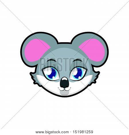 Koala portrait illustration art for multiple purposes