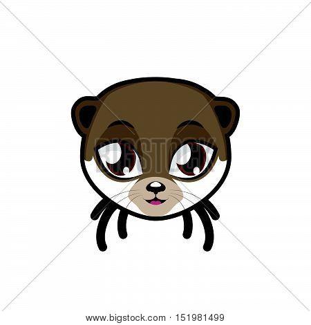 Otter portrait illustration art for multiple purposes