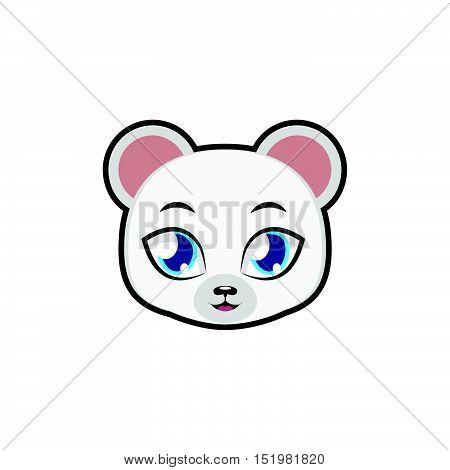 Polar Bear portrait illustration art for multiple purposes