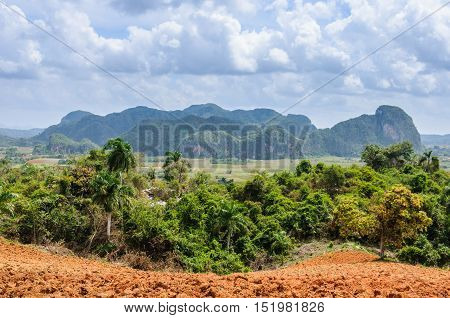 View Of The Rock Formations In Vinales Valley, Cuba