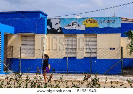Communist Propaganda In Vinales Valley, Cuba