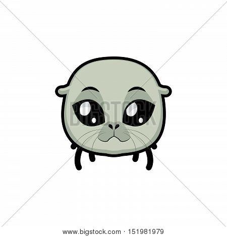 Seal portrait illustration art for multiple purposes