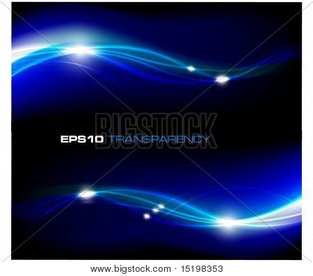 Blue abstract stylish fantasy background  - vector illustration