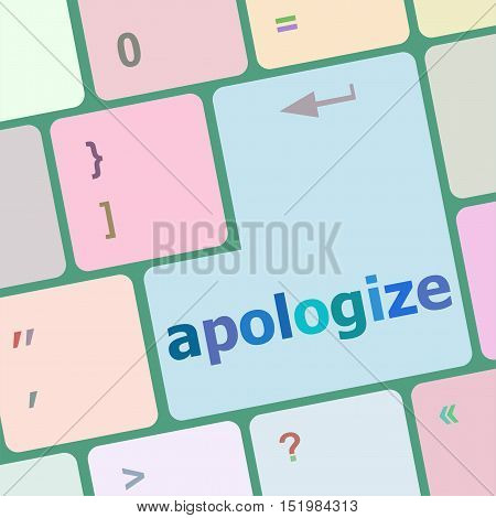 Keyboard Keys With Enter Button, Apologize Word On It