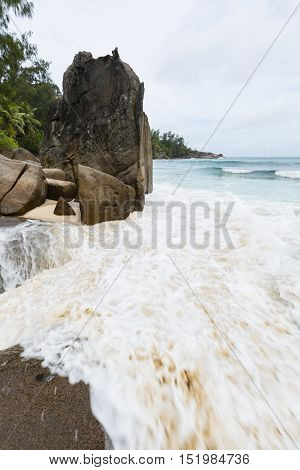 Waves At Anse Intendance, Mahe, Seychelles