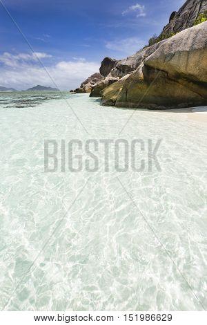 Rocks And Lagoon, La Digue, Seychelles