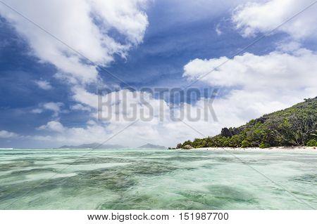 Anse Source D'argent With Tourists, La Digue, Seychelles