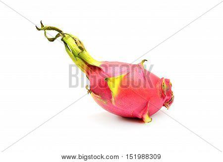 pitaya dragon full fruit isolated on white background